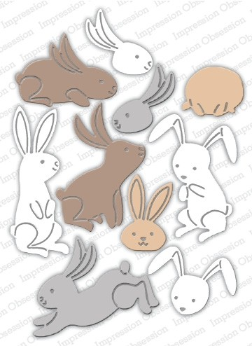 Impression Obsession Bunny Poses Die 662-z