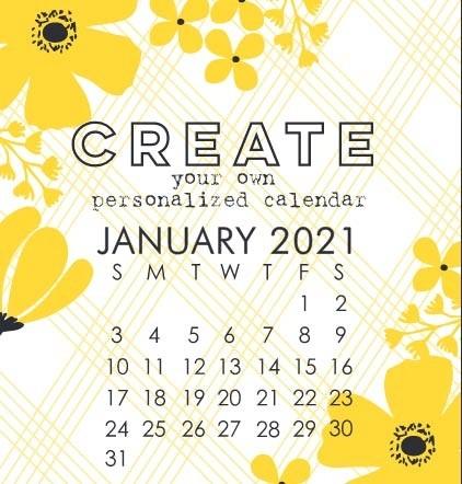 Impress' Small 2021 DIY Calendar Refill