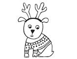 Savvy Stamps reindeer dog rubber stamp 1631d