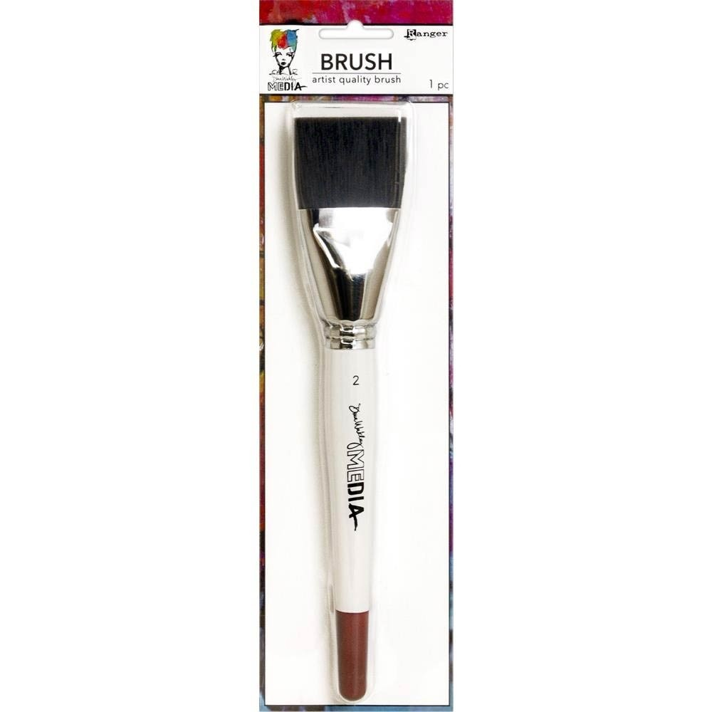 NEW - Dina Wakley Media Stiff Bristle Brush