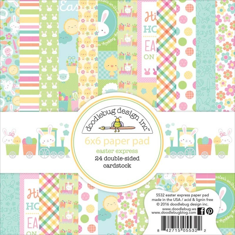 """Doodlebug Double-Sided Easter Express Paper Pad 6""""X6"""""""