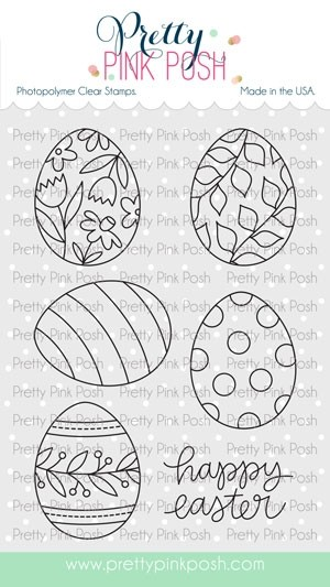 SALE - Pretty Pink Posh Easter Eggs Stamp Set