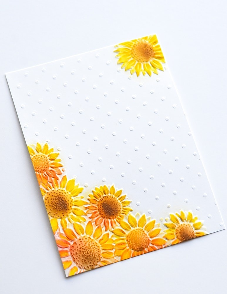 Memory Box Floral Corner 3D Embossing Folder ef1007