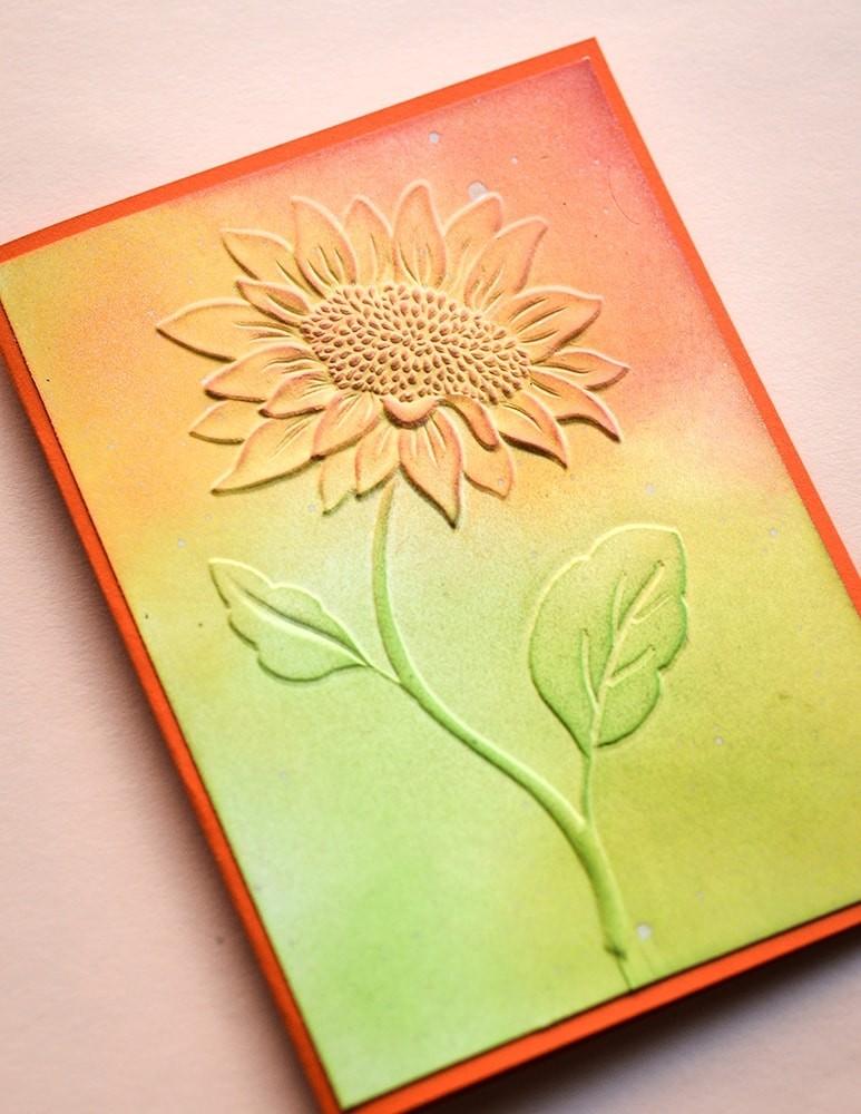 Memory Box Magnificent Sunflower 3D embossing folder