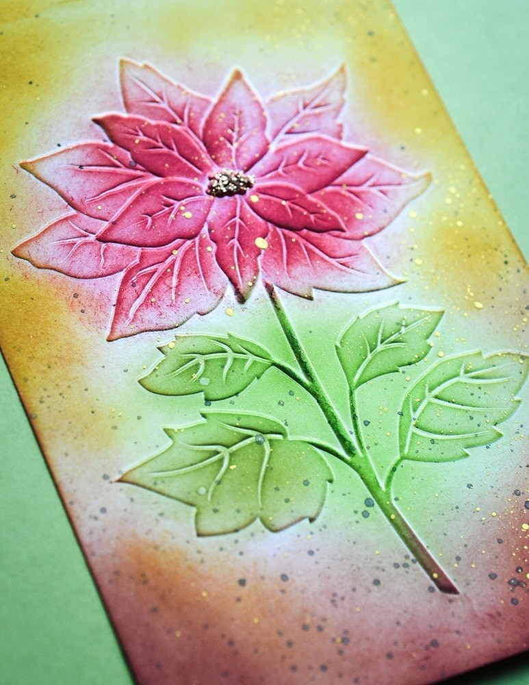 Magnificent Poinsettia #D Embossing Folder EF1011