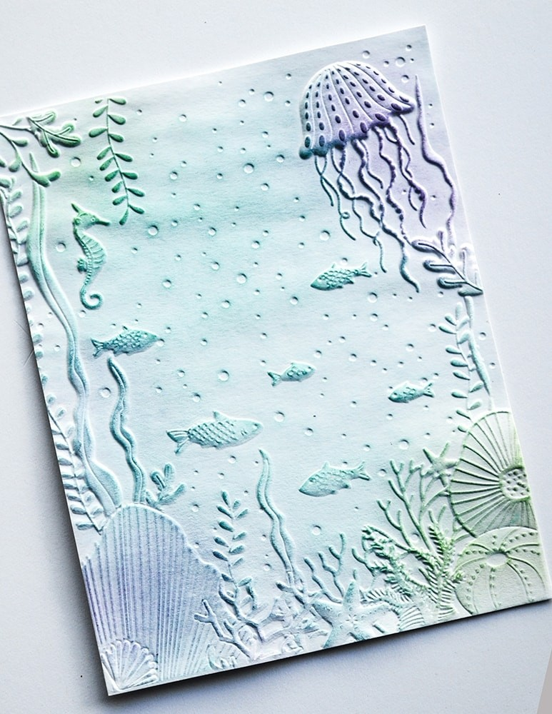 Memory  Box Underwater 3d Embossing Folder