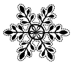 5480e - embroidered snowflake