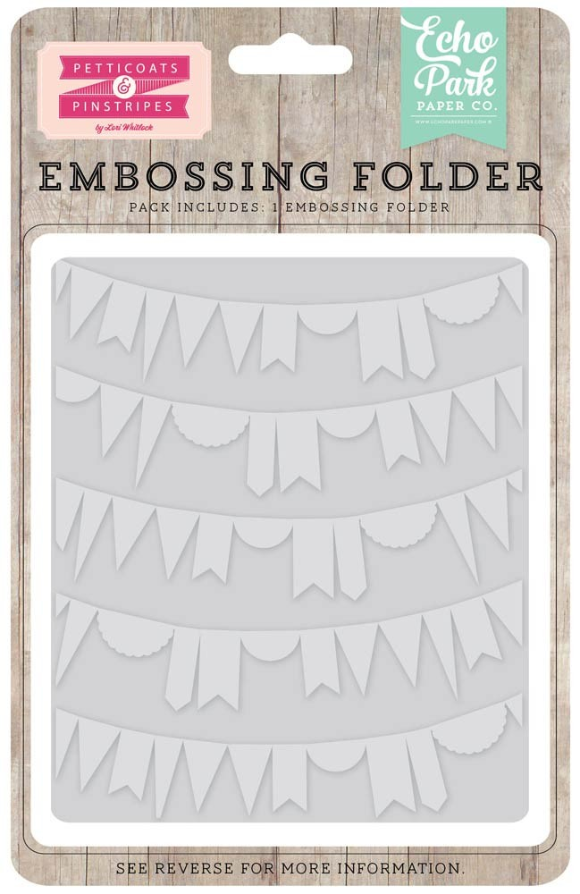 Echo Park Curved Pennant Embossing Folder