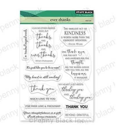 Penny Black Ever Thanks Clear Stamp Set