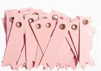 Pink Eyelet Tags