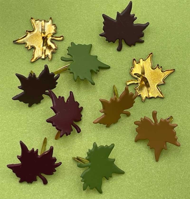 Fall Maple Leaf Brads