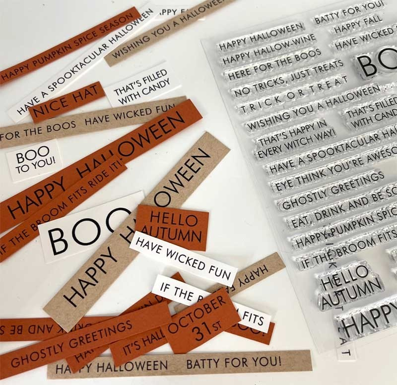 Impress Fall Words Clear Stamp Set