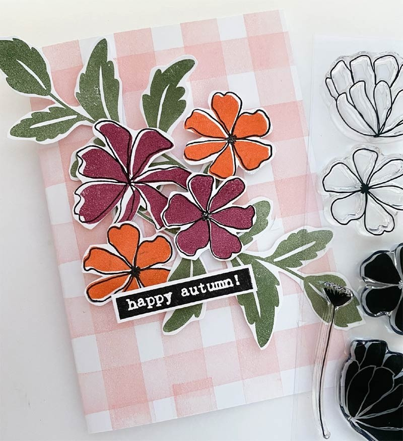 Flora and Fauna  FALL FLOWERS SET 20334