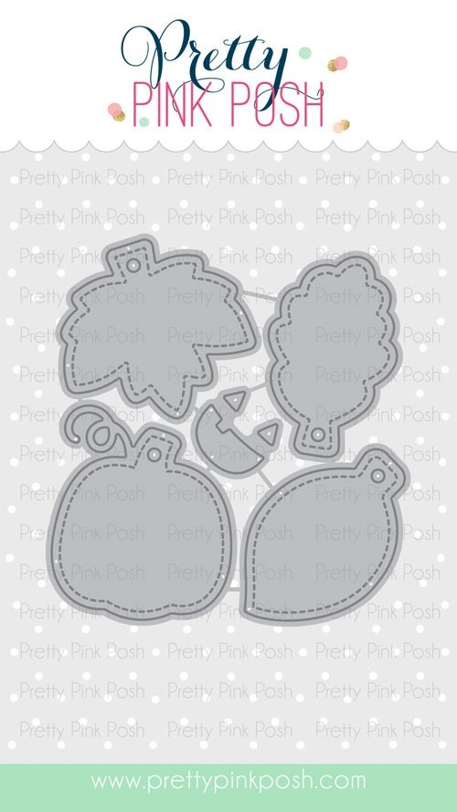 Pretty Pink Posh Fall Tags Dies