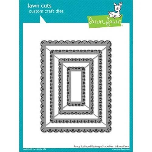 Lawn Fawn Fancy Scalloped Rectangle Stackables lf1322