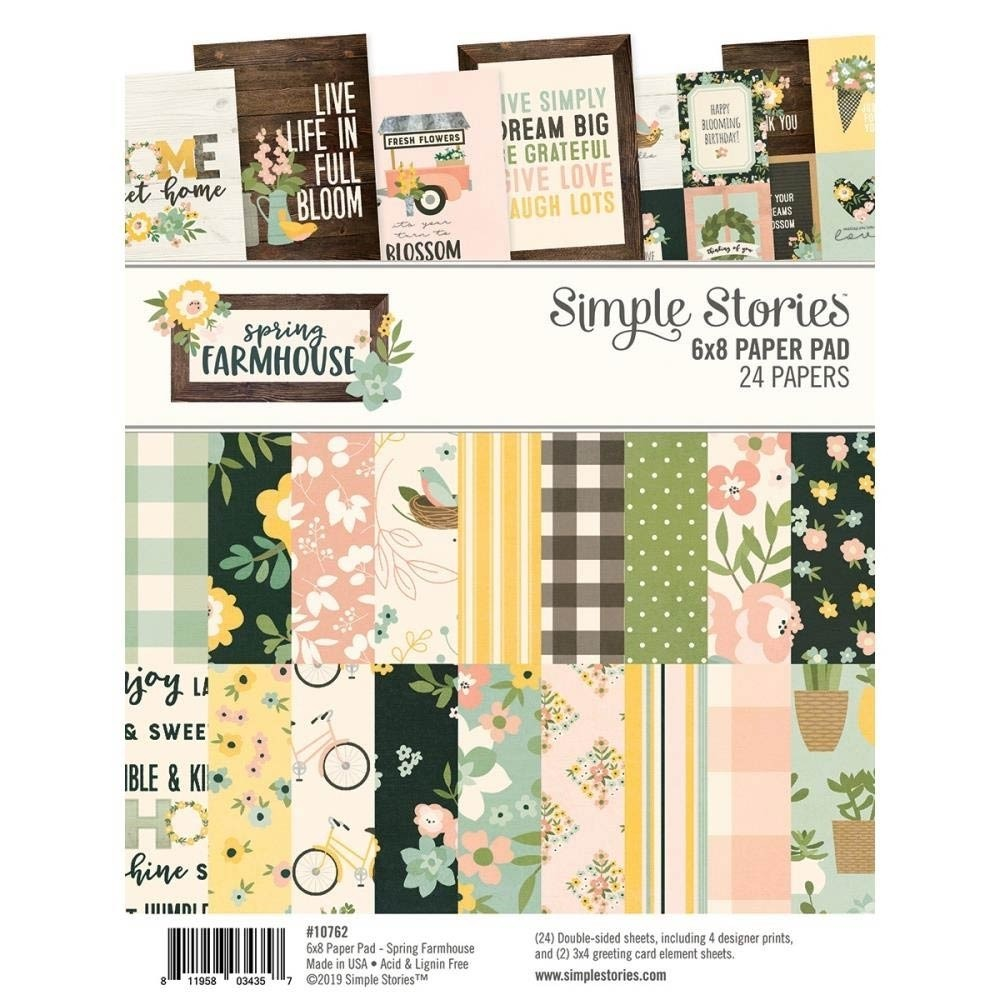Simple Stories Spring Farmhouse 6 x 8 Paper Pack