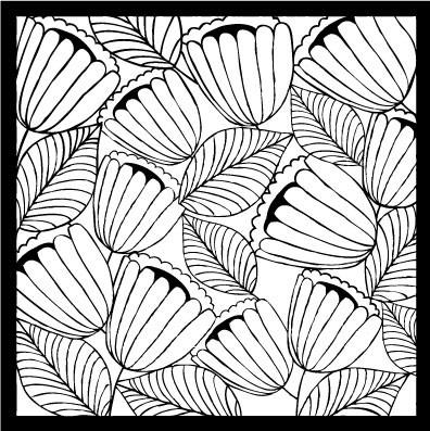 Flora and Fauna Floral Stencil 4  40016