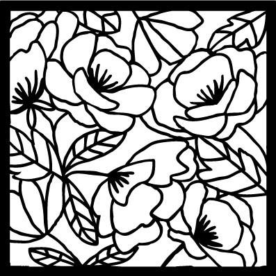 Flora and Fauna Flora Stencil 5  40017