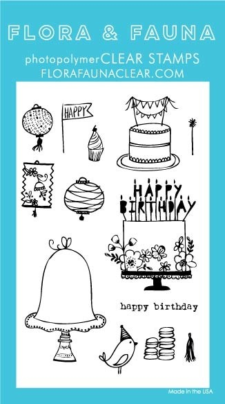 Flora & Fauna Birthday Day Clear Stamp Set