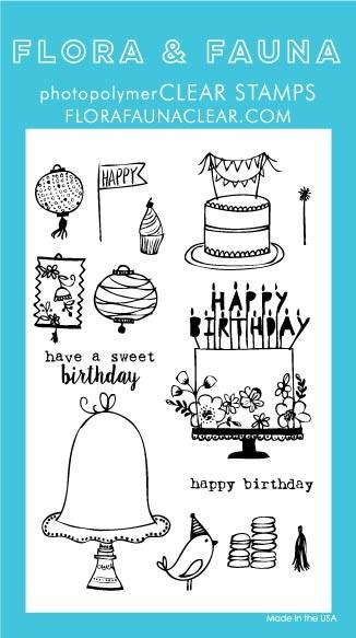 Flora & Fauna Birthday Day Clear Stamp Set