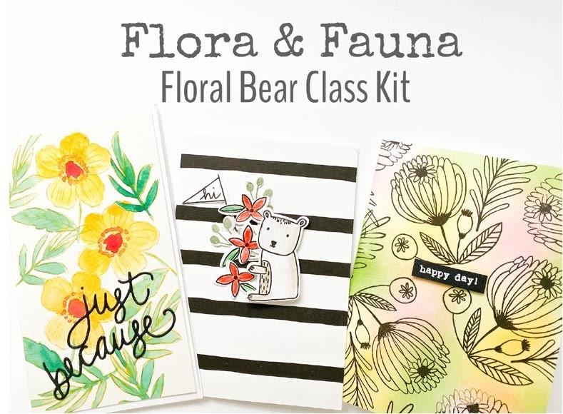Flora and Fauna Floral Bear Class Kit