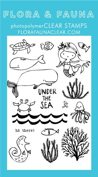Flora & Fauna Under the Sea Clear Stamp Set