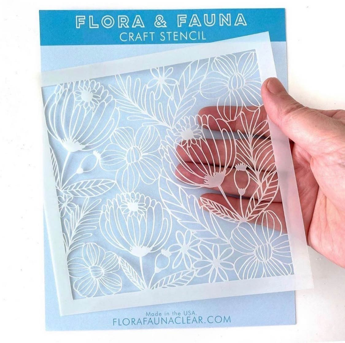 Flora and Fauna Floral Stencil 40008