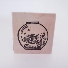 Rubbermoon Fish Bowl Rubberstamp