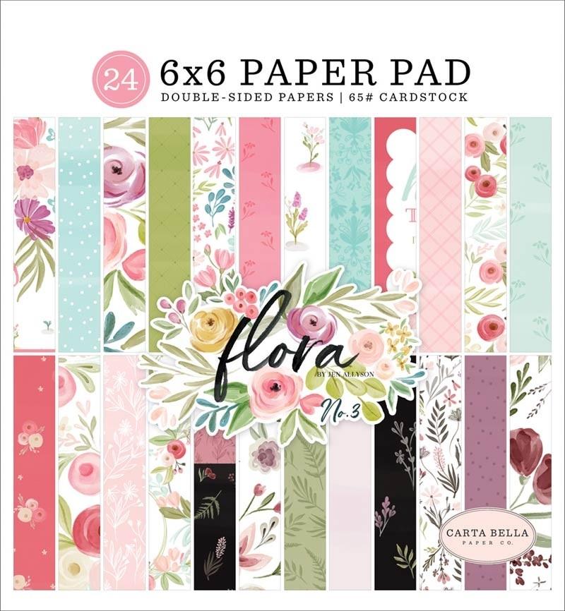 Carta Bella  Flora Paper Pad No 3