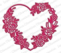 Floral Heart Frame DIE618z