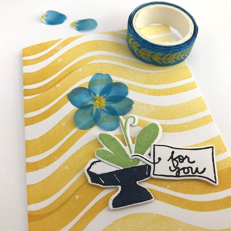 Blue Petals Washi Tape