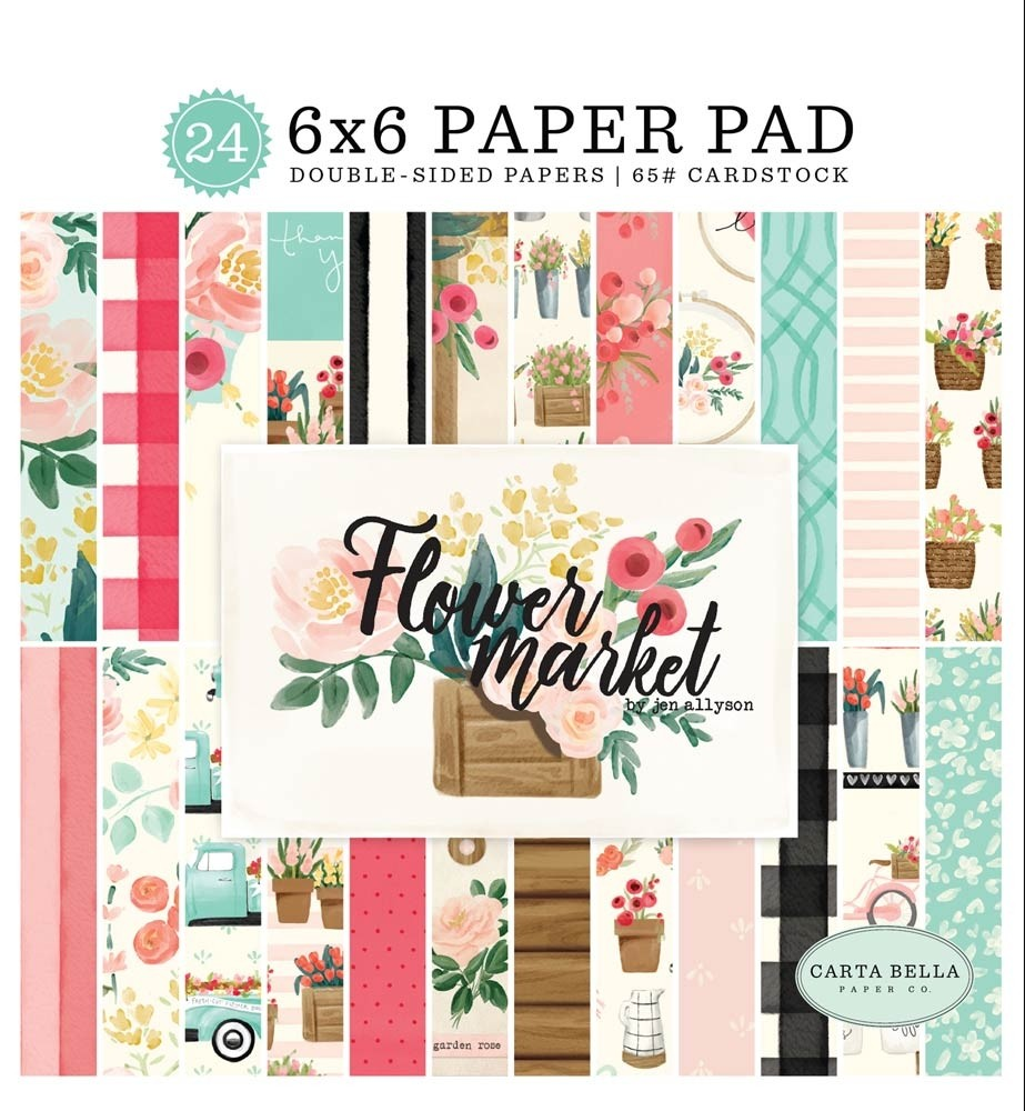 Carta Bella Flower Market Paper Pack