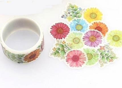 Flower Sticker Washi Tape
