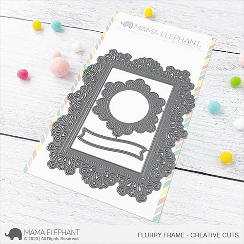Mama Elephant Flurry Frame - Creative Cuts