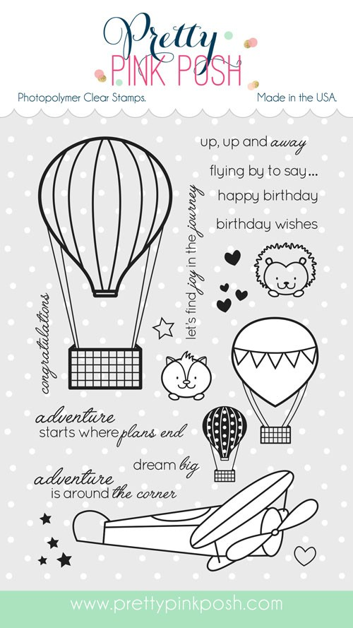 Pretty Pink Posh Fly Away Friends Stamp Set