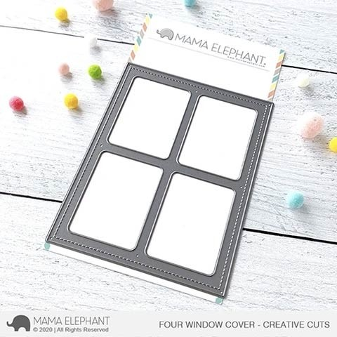 Mama Elephant Four Window Cover - Creative Cuts