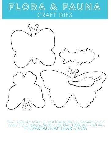 Flora and Fauna Free to Fly Butterfly Matching Die 30164