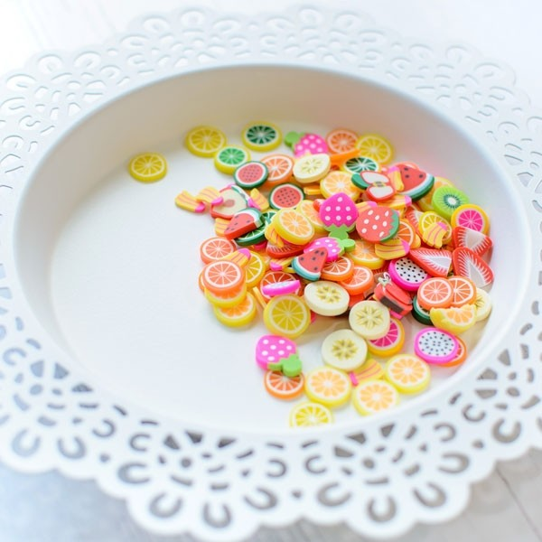 Pretty Pink Posh Fresh Fruit Clay embellishments