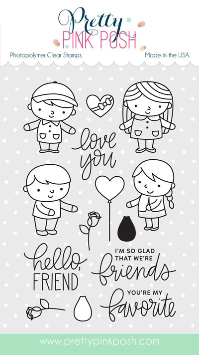Pretty Pink Posh Friends Forever Clear Stamp Set