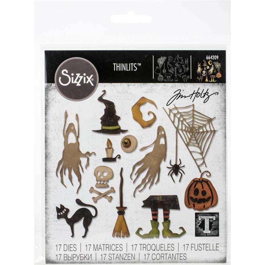 SALE - Sizzix Frightful Things Die Set