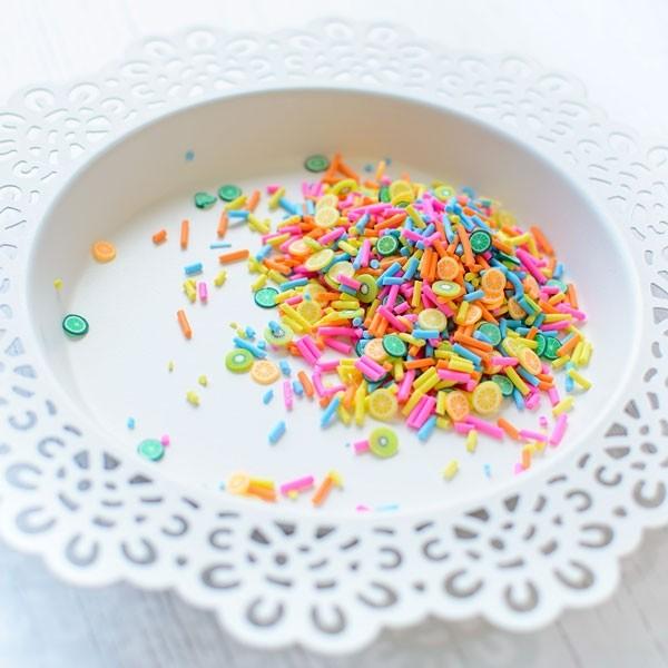 Pretty Pink Posh Fruit Smoothie Clay embellishments