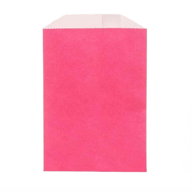 Solid Fuschia Paper Treat Bag: 3 x 4 inches,