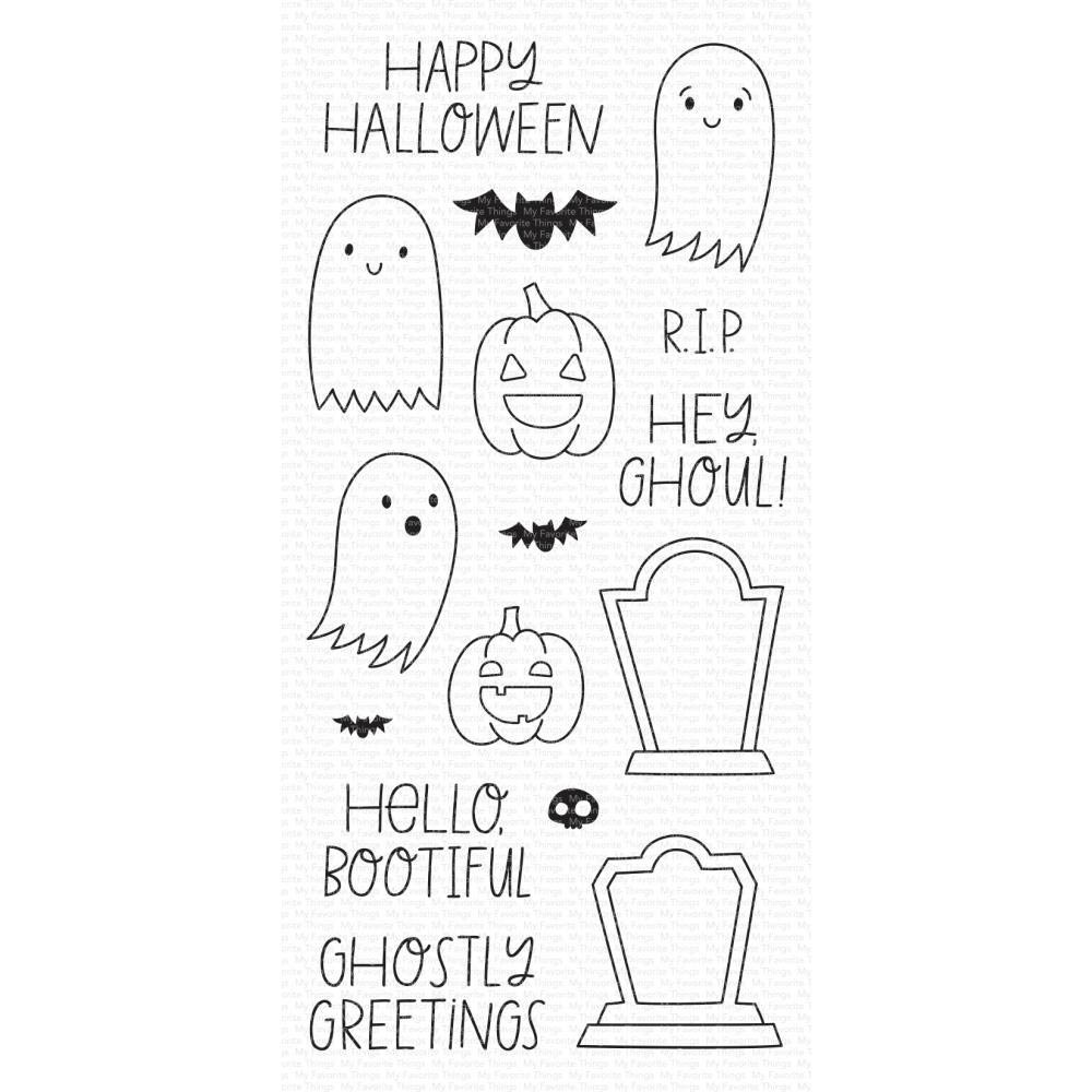 SALE - My Favorite Things Ghostly Greetings Stamp and Die set