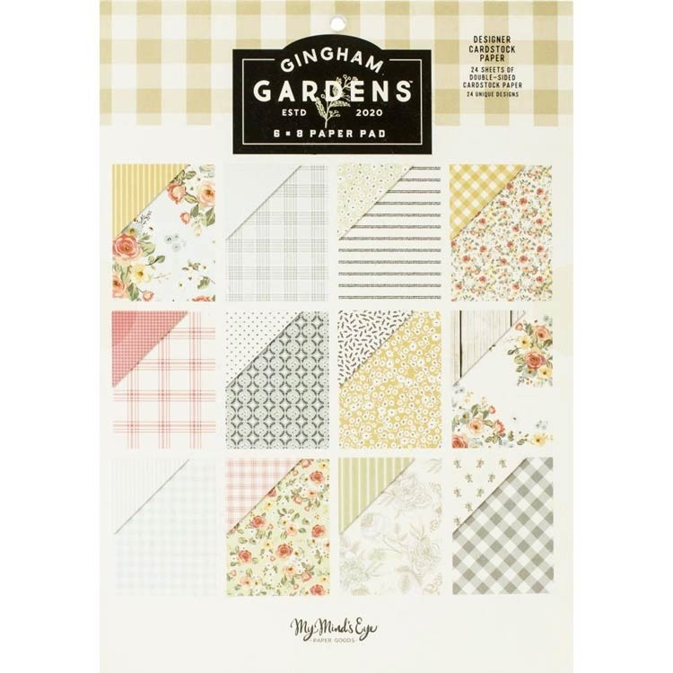 My Minds Eye Gingham Gardens 6 x 8 paper pack