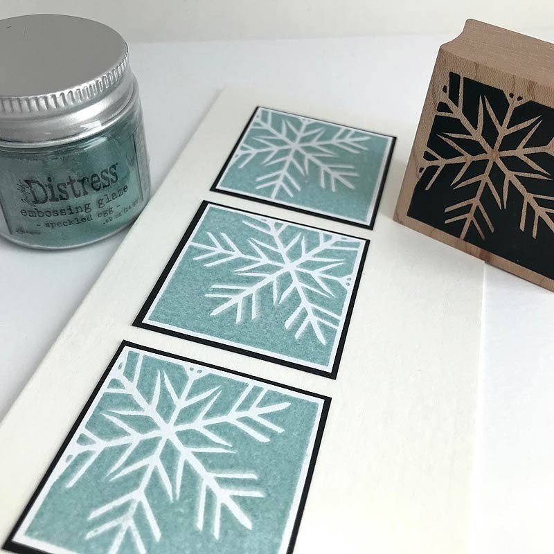 3100C - thin snowflake square