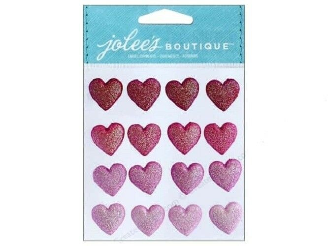 Jolee's Glitter Heart Repeats