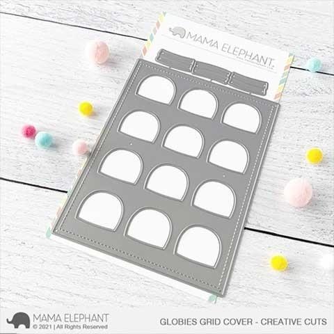 Mama Elephant Globies Grid Cover - Creative Cuts