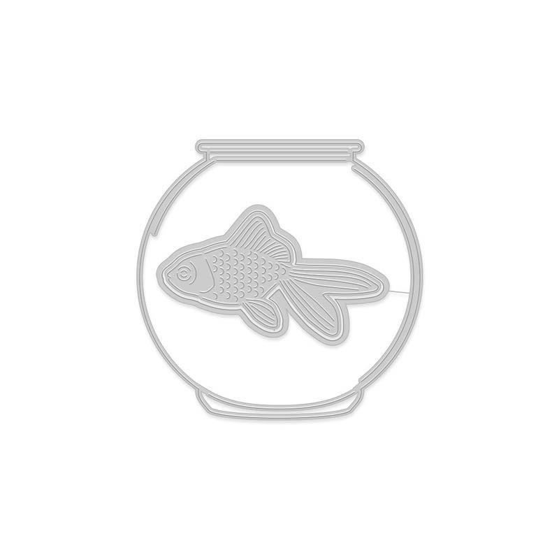 DI627 Paper Layering Goldfish in Bowl
