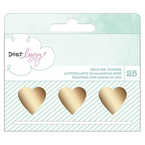 Dear Lizzy Gold Foil Heart Stickers