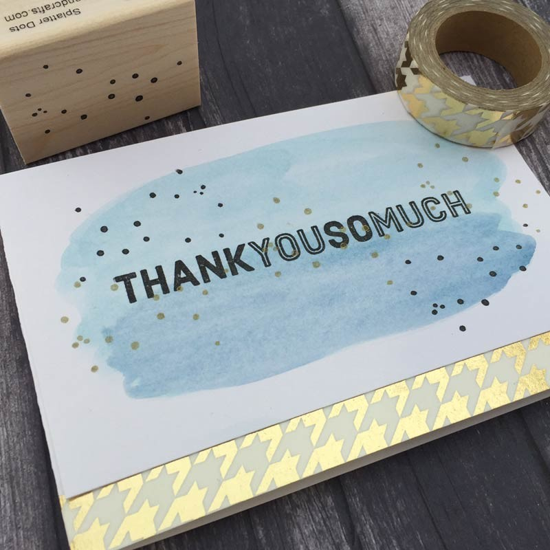 Gold Foil Gingham Washi Tape